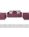 Adorn India Alita 3-1-1 Compact 5 Seater Sofa Set (Light Purple)