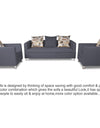 Adorn India Alita 3-1-1 Compact 5 Seater Sofa Set (Dark Grey)