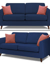 Adorn India Harlem 5 Seater 3+2 Fabric Sofa Set (Blue)