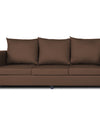 Adorn India Straight line Three Seater Sofa(Brown)