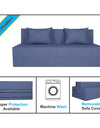 Adorn India Easy 3 Seater Sofa Cum Bed Checks Design 6' x 6' (Grey)