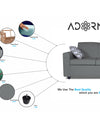 Adorn India Monteno Modular Sofa Set (Grey)
