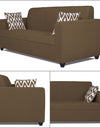 Adorn India Rio Highback 3-1-1 5 Seater Sofa Set (Brown)