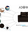Adorn India Astor Leatherette 5 Seater 3-1-1 Sofa Set (Brown)