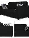 Adorn India Rio Highback 3-1-1 5 Seater Sofa Set (Black)