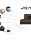 Adorn India Exclusive Two Tone Blake Three Seater Sofa Cum Bed (Brown & Black)