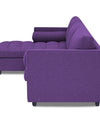 Adorn India Alexander L Shape Sofa (Left Side Handle)(Purple)