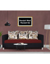 Adorn India Exclusive Two Tone Alita Compact Three Seater Sofa (Maroon & Black)