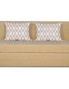 Adorn India Easy Highback Three Seater Sofa Cum Bed Rhombus 5' x 6' (Beige)
