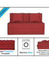 Adorn India Easy Two Seater Sofa Cum Bed Alyn 4'x 6' (Maroon)