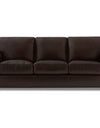 Adorn India Exclusive Rosina Leatherette Three Seater Sofa (Dark Brown)