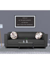 Adorn India Brisco 3 Seater Sofa (Dark Grey)