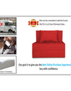 Adorn India Easy Single Seater Sofa Cum Bed Alyn 3'x 6' (Red )