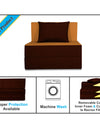 Adorn india Easy Single Seater Sofa Cum Bed (3 Years Warrenty Quality Foam)-Perfect for Seat & Sleep Washeble Polyster Fabric Cover (Camel & Brown) 3'x6'.Pillows Free