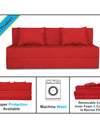 Adorn India Easy Three Seater Sofa Cum Bed Alyn 5'x 6' (Red)