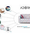 Adorn India Roselyn 3 Seater Sofa Cum Bed (Blue)