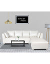 Adorn India Bradley Leatherette L Shape Sofa (White)