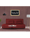 Adorn India Blake 3 Seater Sofa Cum Bed (Maroon)