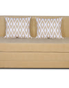 Adorn India Easy Highback Two Seater Sofa Cum Bed Rhombus 4' x 6' (Beige)
