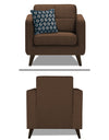 Adorn India Chilly 6 Seater 3+2+1 Fabric Sofa Set (Brown)