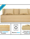 Adorn India Easy Three Seater Sofa Cum Bed Alyn 6'x 6' (Beige)