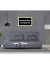 Adorn India Blake 3 Seater Sofa Cum Bed (Dark Grey)