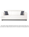 Adorn India Plush Leatherette 3 Seater Sofa (White)