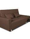 Adorn India Flora Sofa Cum bed (Brown)