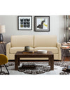 Adorn India Exclusive Flavio Leaterette Three Seater Sofa (Beige)