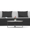 Adorn India Easy Three Seater Sofa Cum Bed 5'x6' (Black and Grey)