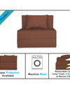 Adorn India Easy Single Seater Sofa Cum Bed Alyn 3'x 6' (Brown)