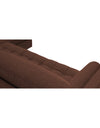 Adorn India Alexander L Shape Sofa (Right Side Handle)(Brown)