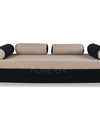 Adorn India Easy Fabric Deewan Cum Bed (Being and Black)