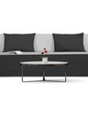 Adorn india Easy Three Seater Sofa Cum Bed (3 Years Warrenty Quality Foam)-Perfect for Seat & Sleep Washeble Polyster Fabric Cover (Black & Grey) 6'x6'.Pillows Free