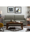 Adorn India Exclusive Flavio Leaterette Three Seater Sofa (Grey)