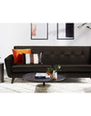 Adorn India Exclusive Alexus Leaterette Three Seater Sofa (Brown)
