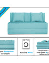 Adorn India Easy Two Seater Sofa Cum Bed Alyn 4'x 6' (Aqua Blue)
