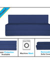 Adorn India Easy Treno 3 Seater Sofa Cum Bed Sit & Sleep Perfect for Guest, Colour Blue, 5'x6'