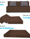 Adorn India Easy Three Seater Sofa Cum Bed Rhombus '5 x 6' (Brown)