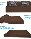 Adorn India Easy Three Seater Sofa Cum Bed Rhombus '6 x 6' (Brown)