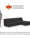 Adorn India Atlas Modular Sofa Set (Black)