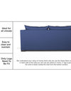 Adorn India Straight line 3 Seater Sofa Cum Bed (Blue)