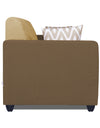 Adorn India Rio Highback 3 Seater Sofa (Brown & Beige)