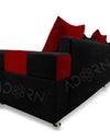 Adorn India Adillac 5 Seater Corner Sofa(Left Side Handle)(Maroon & Black)