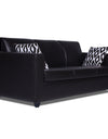 Adorn India Monteno Leatherette 5 Seater 3-1-1 Sofa Set (Black)