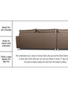 Adorn India Straight Line L Shape Sofa (Left Side Handle)(Camel)