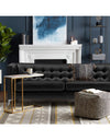 Adorn India Exclusive Cosmos Leaterette Three Seater Sofa (Black)