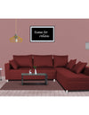 Adorn India Straight line L Shape Sofa (Maroon)