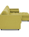 Adorn India Alexander L Shape Sofa (Right Side Handle)(Green)