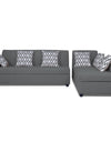 Adorn India Rio Highback L Shape 5 Seater coner Sofa Set (Grey)